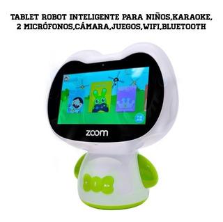 Tablet Robot Inteligente Zumi Para Niños Karaoke Interactivo