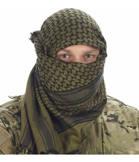Pashmina Shemagh Bufanda Arabe Tactica Militar Verde