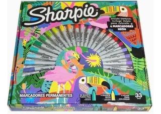 Marcadores Permanentes Sharpie 30 Pzas + Hojas P/colorear, A