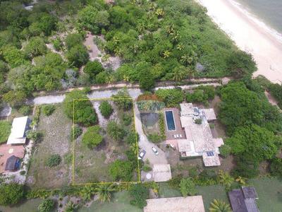 Re/max Vende; Terreno Em Condomínio Pé Na Areia Na Privilegiada Praia De Santo André. - Te0282