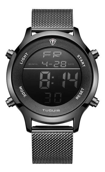 Relógio Unissex Preto Digital Original Esportivo Pulseira