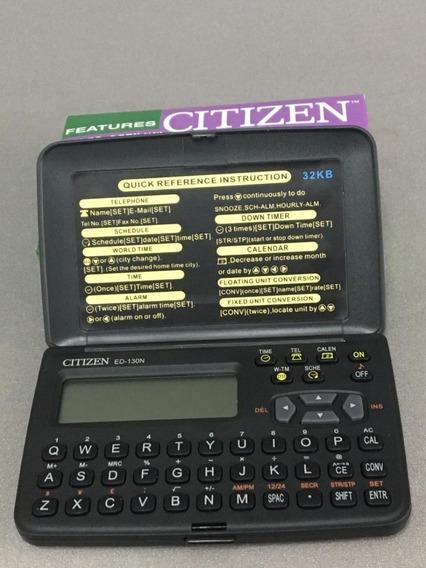 Agenda Eletrônica Citizen Ed - 130nb 32kb