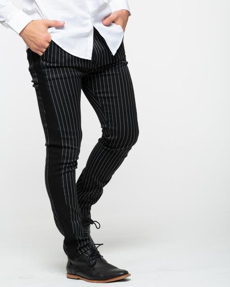 Pantalon Spender Elastizado Negro Siamo Fuori Premium