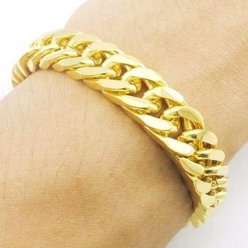 Bracelete Pulseira Banhada A Ouro 18k Banho De Ouro