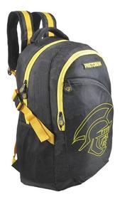 Mochila Escolar Preta Amarelo Pretorian Sport