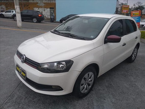 Volkswagen Gol 1.0 Flex G6 Completo 4pts Bco Couro Caramelo