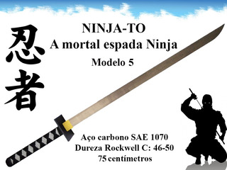 Ninja To Espada Ninja Shinobi Katana Combate Full Tang