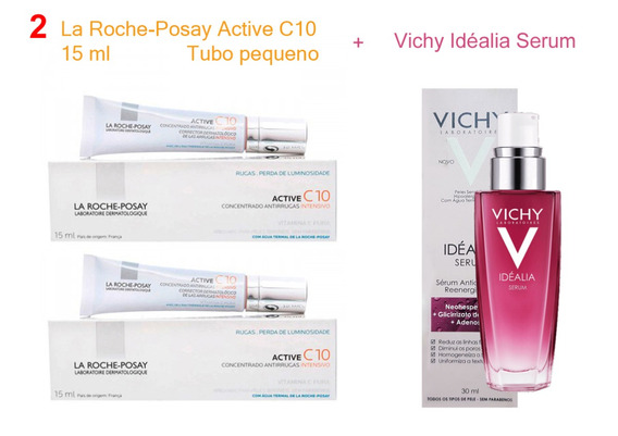 2 Active C10 15ml Pequeno + 1 Idéalia Serum 30ml - Premium