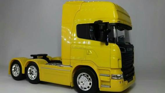 Miniaturas Caminhão Scania Trucado Escala 1.32 Welly Metal