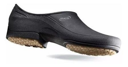 Sapato Impermeável E Antiderrapante Flip Preto Bracol
