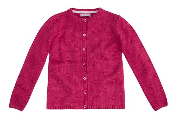 Casaco Hering Kids Juvenil Tricô Inverno Pink Feminin Tam 16