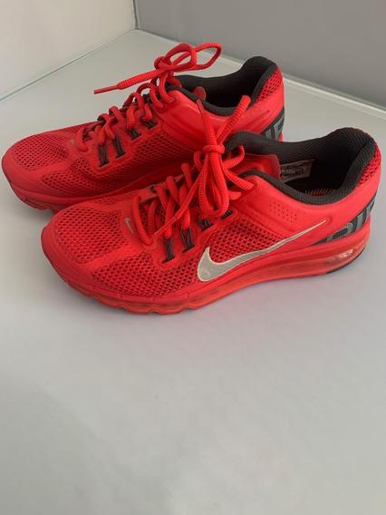 Zapatillas Nike Airmax Rojas Mujer - Talle 8.5 Us