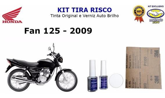 Tira Risco Moto Honda Fan 125cc Preto 2009
