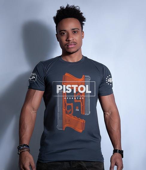 Camiseta Militar Masculina Gufz6 Glock Pistol Operator