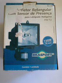 Refletor Halog Com Sensor De Presença Brasfort