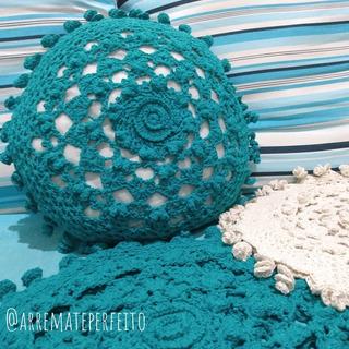 Capa De Almofada Em Crochê 2u + Frete Grátis