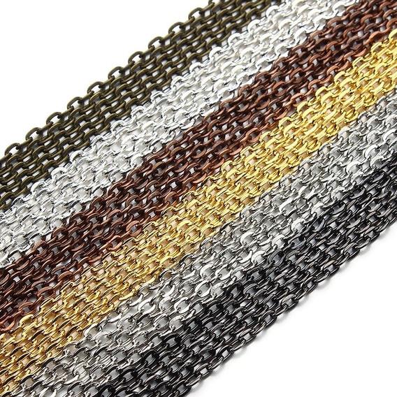 Cadena Rollo Para Fabricación D Joyería Collar Metal Colores