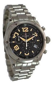 Reloj Nivada Ng3005gacnna Caballero Cristal Zafiro Plateado