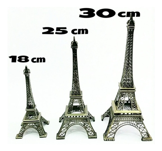 Torre Eiffel 18cm Adorno París Fiestas, 15 Años, Bodas, Etc