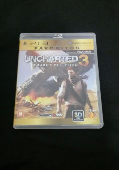 Uncharted 3 - Ps3 - Carta Registrada R$ 12
