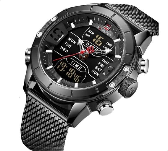 Relógio Masculino Naviforce Nf9153 Resistente À Água