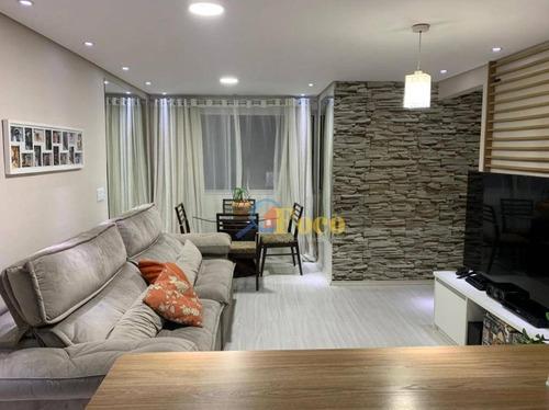 Apartamento Com 2 Dormitórios À Venda, 54 M² Por R$ 245.000,00 - Bandeiras - Osasco/sp - Ap0444