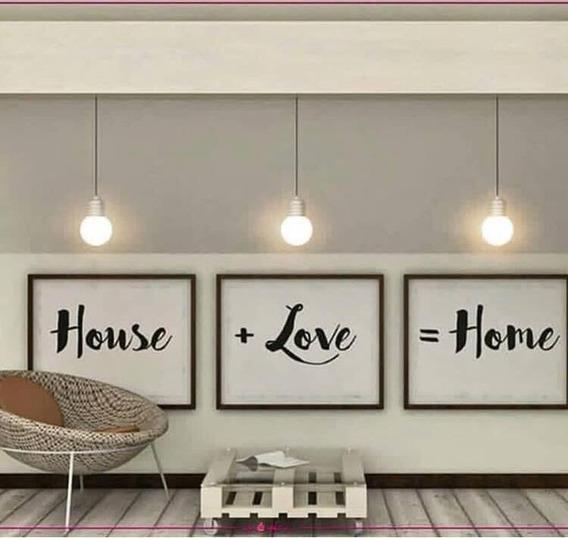 Cuadros Frases Home Love Adornos Y Decoración Del Hogar En