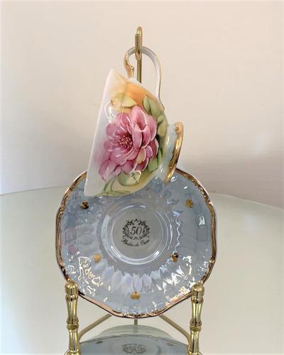 Imagem 1 de 5 de Enfeite Xicara Chá Com Suporte Bodas De Ouro, 50 Anos  24cm
