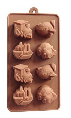 Imagen 1 de 3 de * Molde Silicon Transportes Chocolate Fondant Jabon Crayola