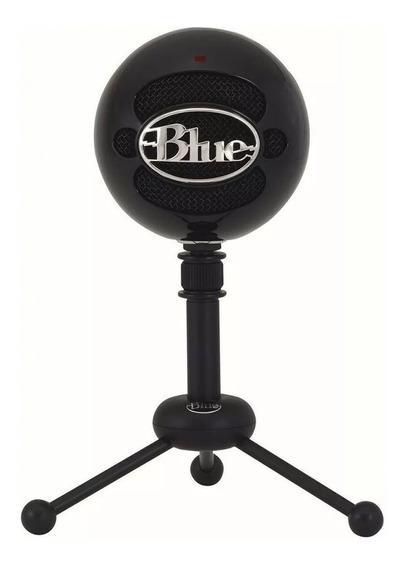 Microfone Blue Snowball Ice Usb Condensador Preto Original