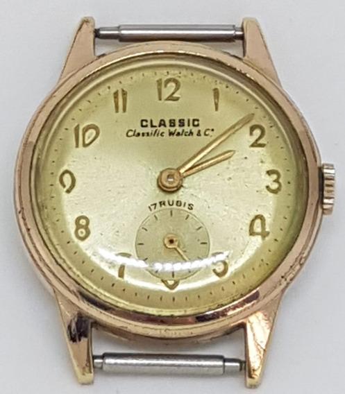 Relogio De Pulso Classic Watch Co.17 Plaque 17j Funcionando