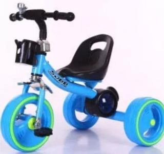 Triciclo Musical Led Niño Azul