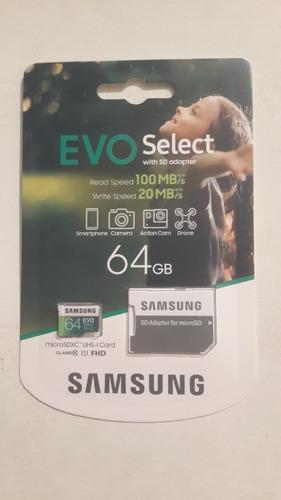 Tarjeta De Memoria De 64 Gb Evo Select