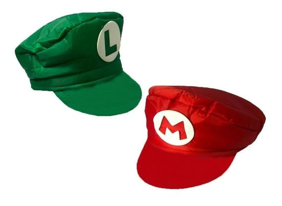 Boné Mario Bros Ou Boina Luigi Chapéu Cosplay Pronta Entrega