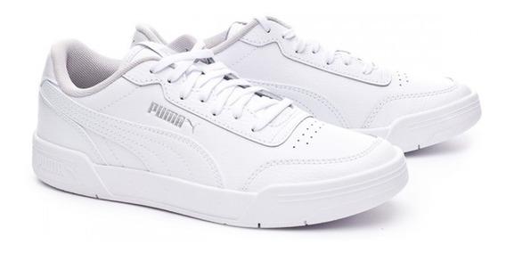 Tenis Piel Puma Niño Clásico Casual Color Blanco Originales