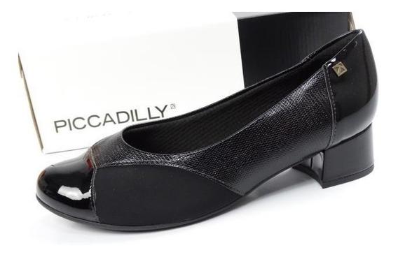 Sapato Feminino Salto Baixo Bloco Casual Piccadilly 141086