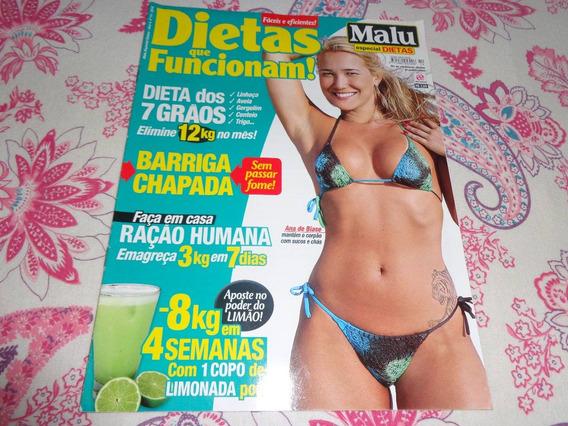 Revista Malu Especial Dietas (ana De Biase Na Capa)