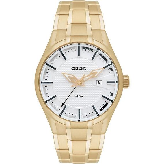 Relógio Orient Mgss1101 Dourado Mostrador Prata Sport