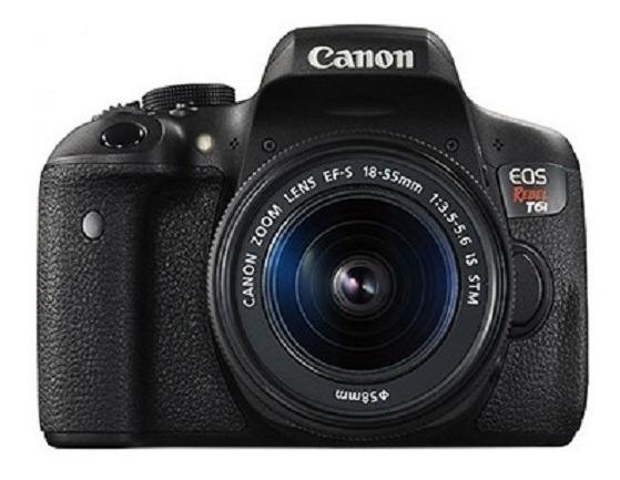 Canon T6i + Lente 50mm + Lente Do Kit + 1 Bateria + Tripé