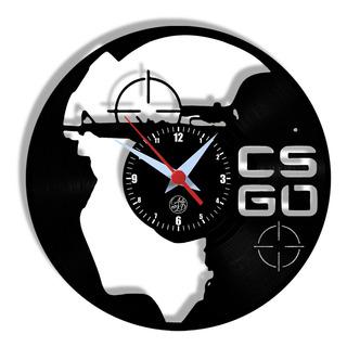 Relógio De Parede Vinil - Cs Go Counter Strike
