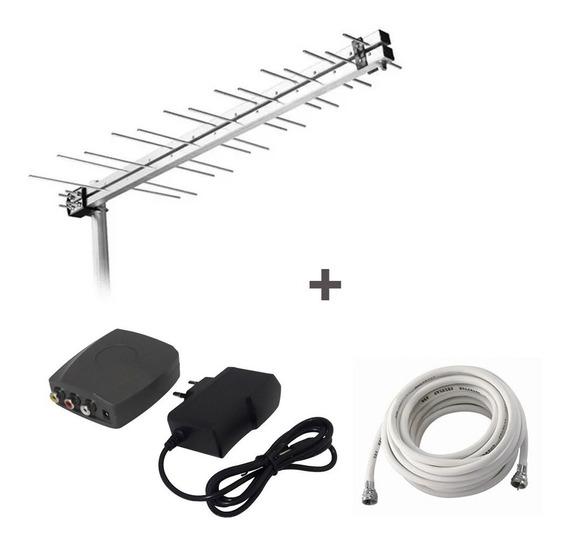 Kit Antena Digital Parabólica Conversor/modulador Cabo Promo