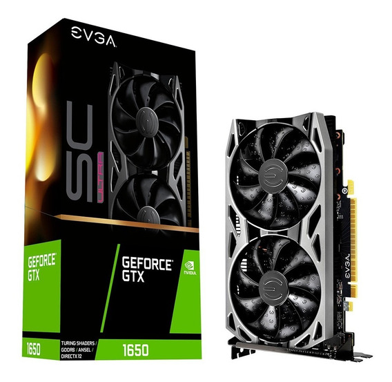 Placa De Video Evga Gtx 1650 4gb Sc Ultra Gddr6 Gaming 6cts