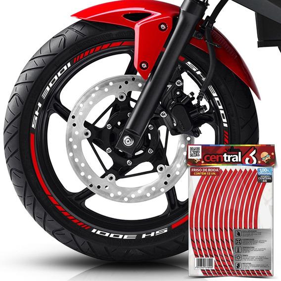 Frisos De Roda Honda Sh 300i Refletivo Vermelho