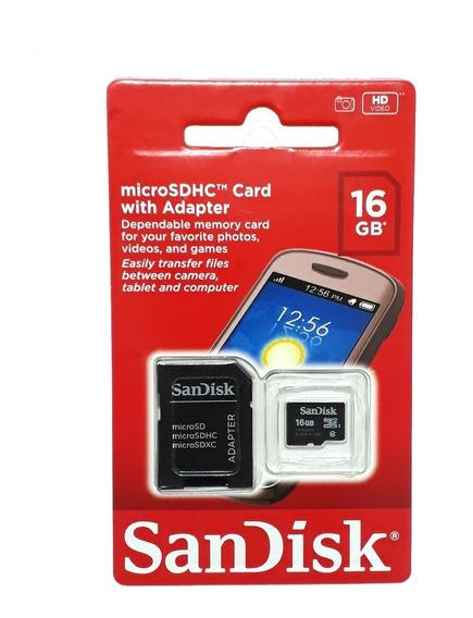 Cartão Micro Sandisk 16 Gb Classe 4 + Adaptador Grátis !!!