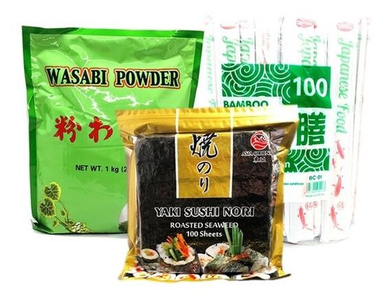 Mix Sushi Algas+ Palitos Chinos + Wasabi