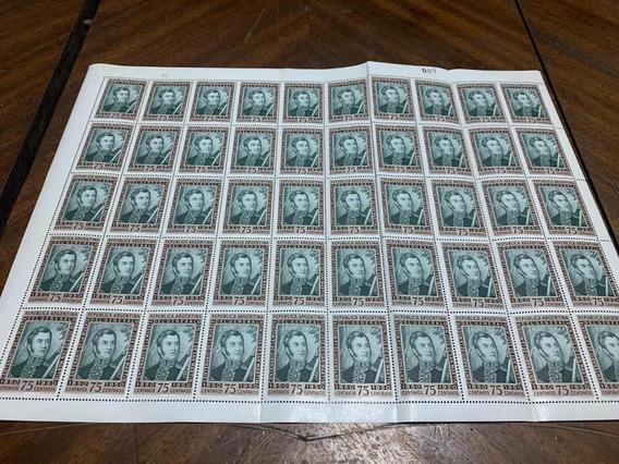 Plancha De Estampillas Argentina (1)