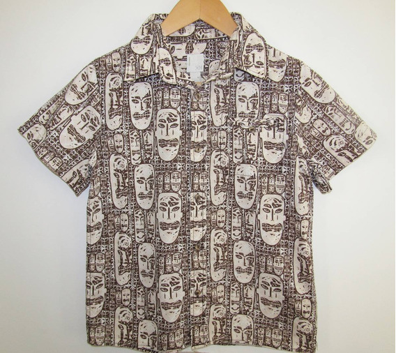 Old Navy Camisa Hawaiiana Para Niños Talla M