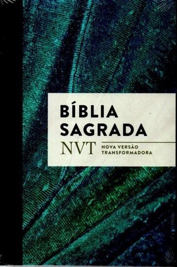 Livro Bíblia Sagrada Nova Versão Transformadora Capa Azul Cl