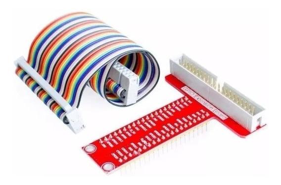 Raspberry Pi Adaptador Placa Gpio 40t + Cabo Flat Raspberry