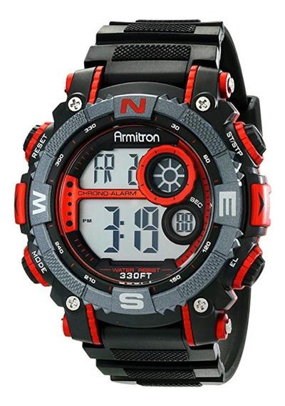 Reloj Armitron Deportivo Hombre Digital Cronógrafo Rojo